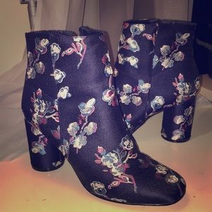 Urban Outfitters Floral Ankle Boots